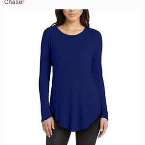 CHASER waffle knit tunic top